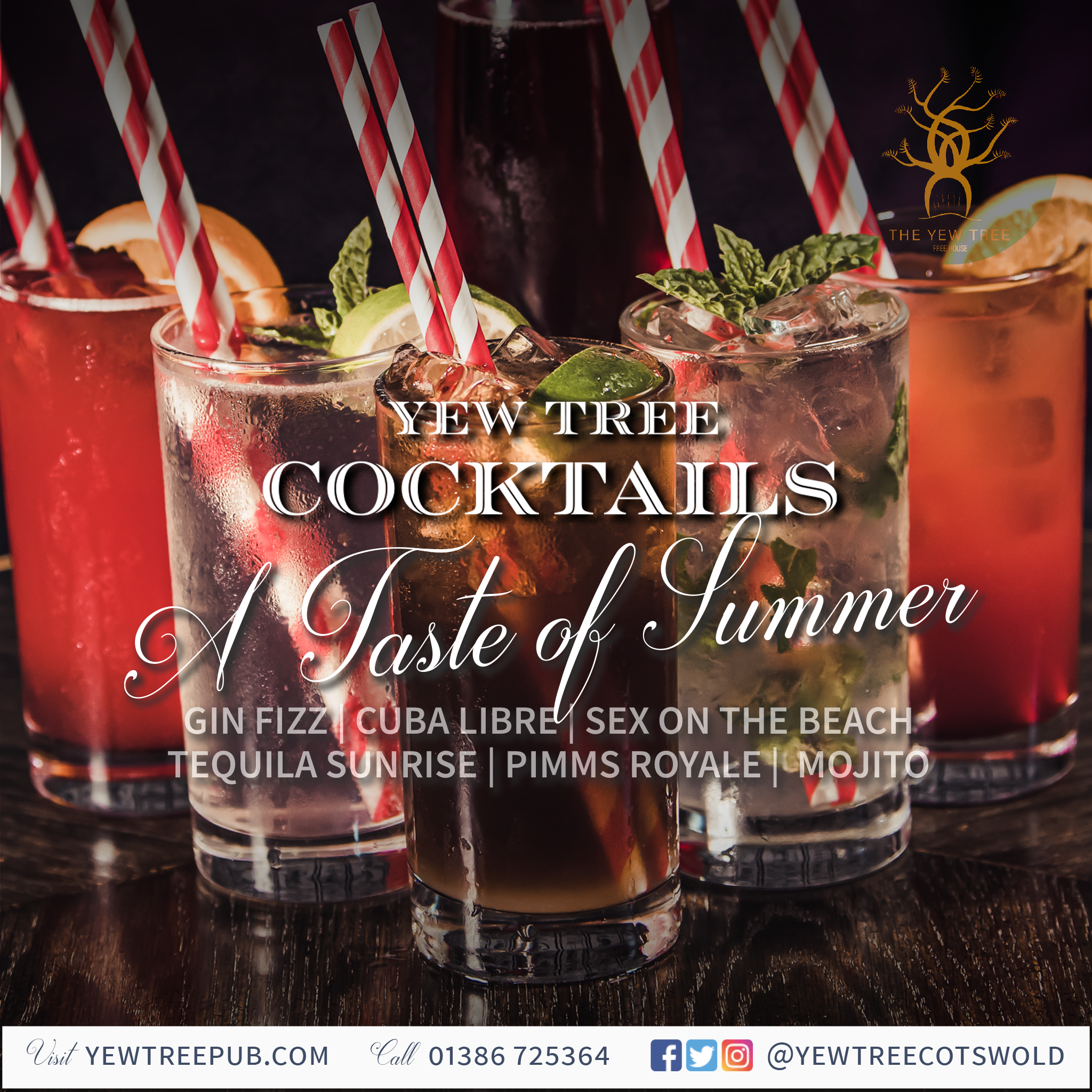 Enjoy our beautiful new cocktails!