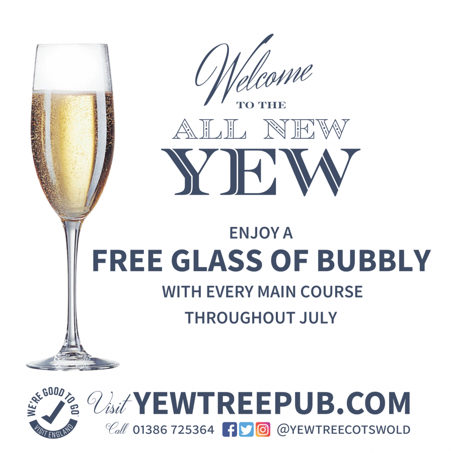 FREE BUBBLY WITH EVERY MEAL