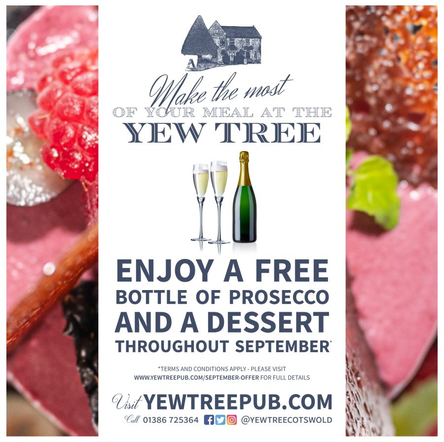 FREE PROSECCO & A DESSERT WITH EVERY MEAL